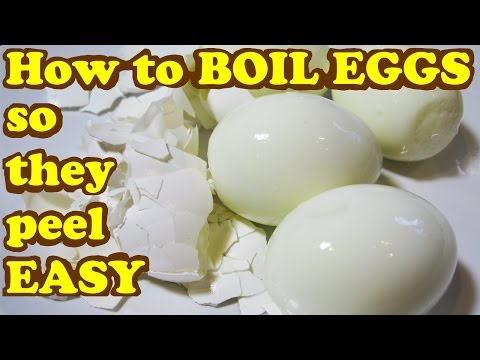 How To Cook Boiled Eggs So They Peel Easy - Egg Shell Easier Peeling Boil Cooking Tips Video Jazevox