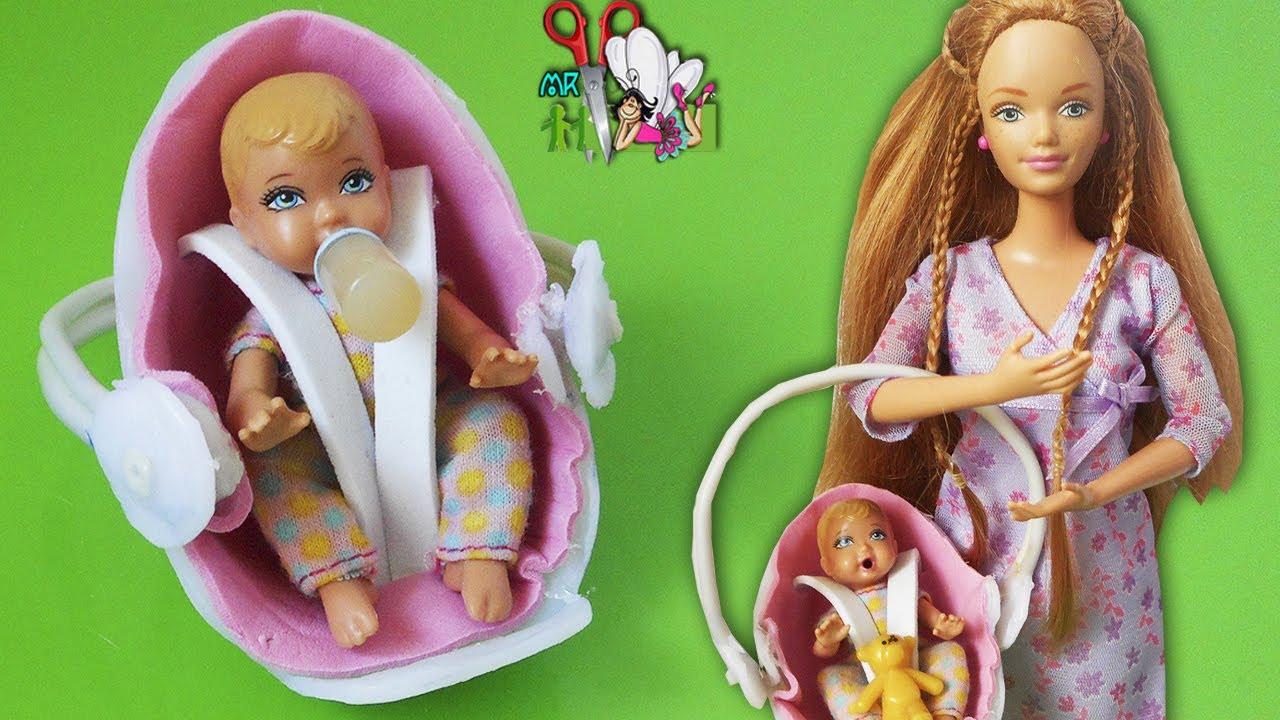 Как сделать для барби маленьких кукол 871