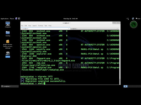 Kali Linux - Hacking XP SP3 RealPlayer RealMedia File Handling
