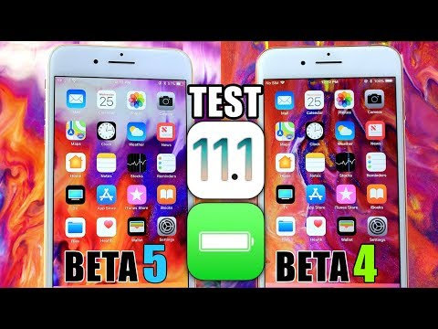iOS 11.1 Beta 4 vs iOS 11.1 Beta 5 | Battery Test