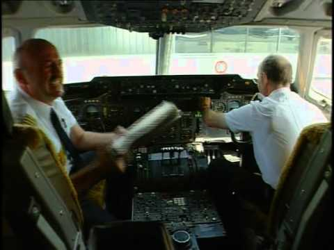 Lufthansa DC10-30 cockpit flight Frankfurt- Beijing part 1 of 6