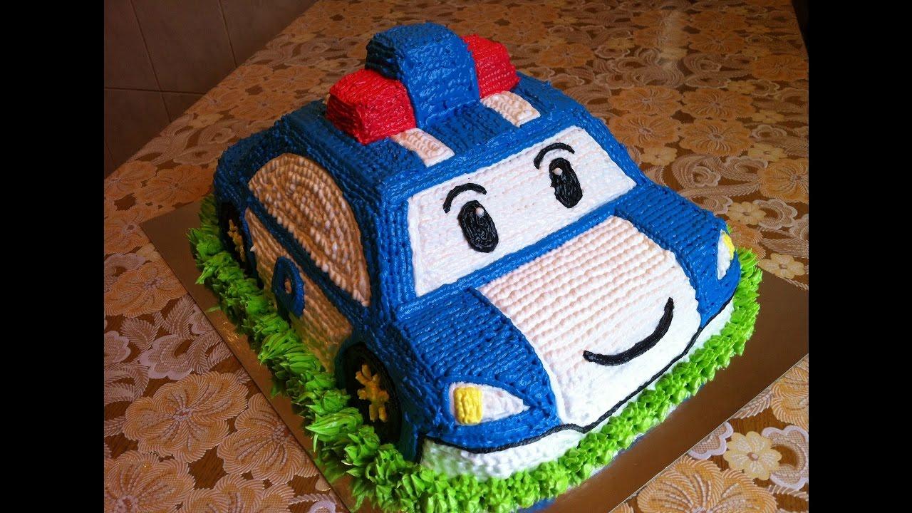 Как сделать машинки на детский торт
