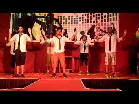 Bimtechs retail 1st year students perform mime- likhe jo khat...