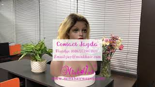 Mink Hair Vendor 10A Grade  13*4  Lace Frontal