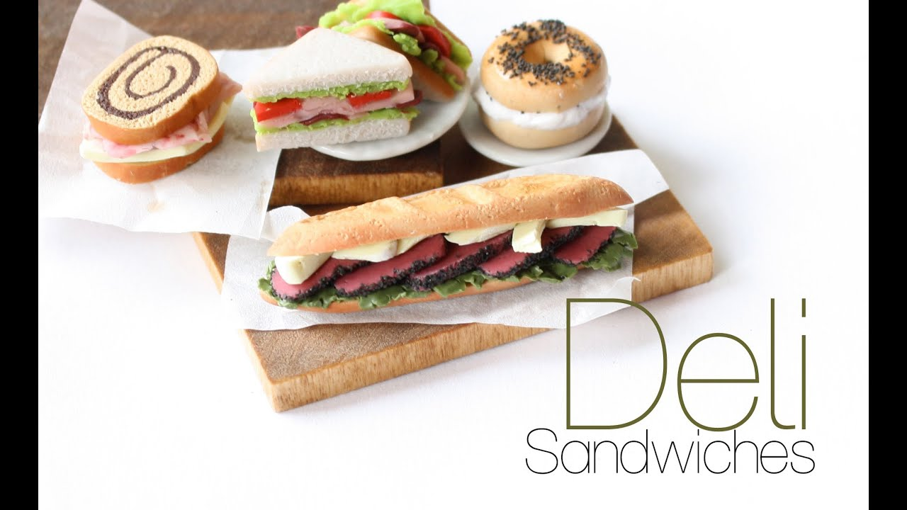 Deli Sandwiches Polymer Clay