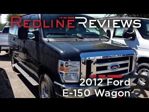 2012 Ford E-150 Wagon Review. Walkaround. Start Up. Test Drive