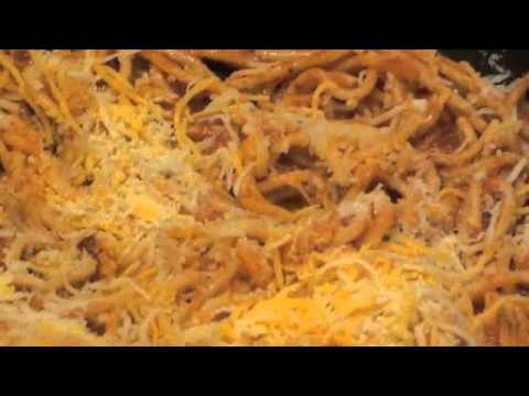 Spaghetti Fritti (fried spaghetti)