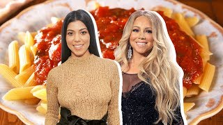 Kourtney Kardashian Vs. Mariah Carey: Who Has The Best Tomato Sauce?