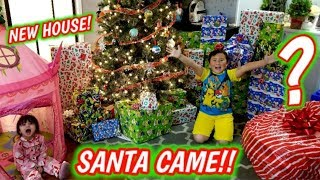 SANTA BROUGHT THE BEST CHRISTMAS PRESENTS! ARI GOT A NEW HOUSE AND HUGE MYSTERY SUPRISE GIFT!!