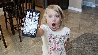 SHE SMASHED HIS PHONE! | BROKEN PHONE PRANK!
