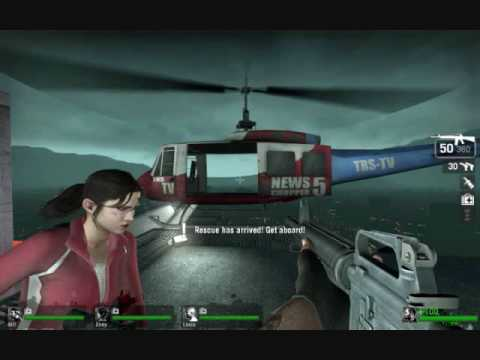 Left 4 Dead:chopper pilot dialogue Video