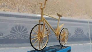 Hướng dẫn làm xe đạp từ tăm tre[how to make bikecycle of bamboo]