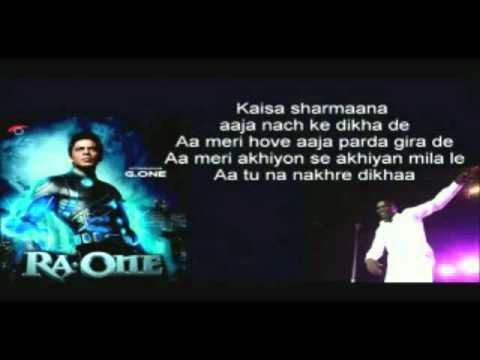 Chamak Challo - Full Song- Akon With Lyrics - Ra.One - Shahrukh...