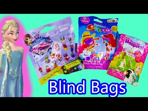 Disney Queen Elsa Frozen Color Changer Blind Bags Littlest Pet Shop Animal Rescue Hospital Orbeez