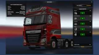 ETS2 Mods: 10000 bhp engine for the DAF XF Euro 6