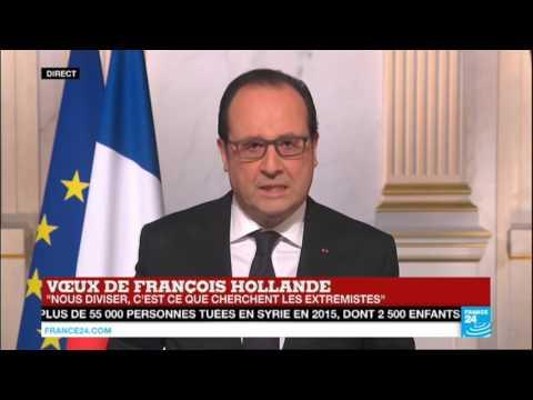 REPLAY - Voeux de François Hollande pour l'année 2016