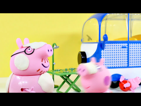 NEW Peppa Pig Holiday Campervan Trip   Peppapig Toy Episode Play Doh 2015 DCTC Videos