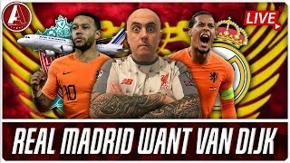 DEPAY PLANE TRACKED AND MADRID WANT VAN DIJK | LFC Transfer News & Chat