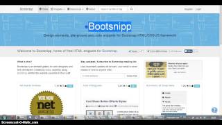 Bootstrap EVO Bootsnipp