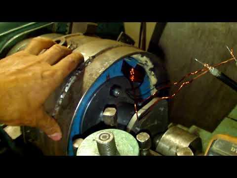 Тест  контрольной катушки и расчёты выходной мощности ветрогенератора