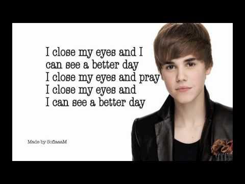 Justin Bieber - Pray (my Worlds Acoustic) With Lyrics video