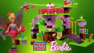 Mega Bloks Barbie Build N Play Fairy Treehouse with Barbie Fairy Princess