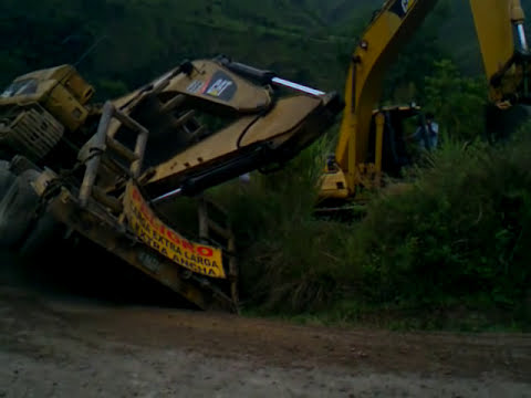 accidente excavadora 320