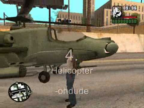 GTA:San Andreas Top 10 Cheats (PC)