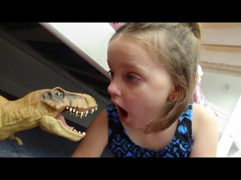 "Pet Dinosaur Poops Under My Bed ""Is This Real Life"" Dinosaurs Toy Freaks Annabelle thumbnail"