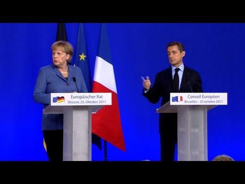 Merkel, Sarkozy discuss Berlusconi (w/ subtitles)