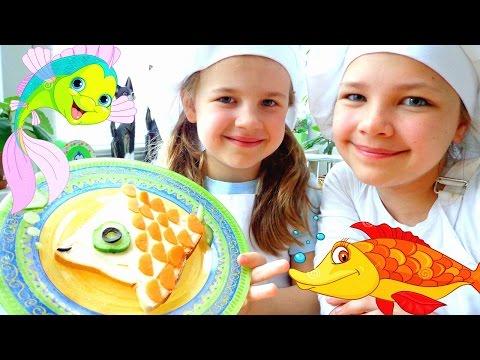 Видео для детей. Простые рецепты бутербродов.