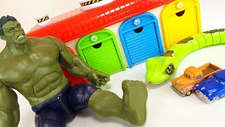 The story of Thomas & Friends, Disney Cars Tayo Hulk vs Sneak Monster Toy Story