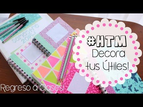 #HTM #DIY Decora CUADERNOS, FOLDERS, LAPICES Y ESFEROS!