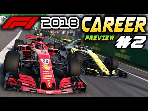 F1 2018 PS4 CAREER MODE Preview Part 2: FIRST RACE! AI IMPROVEMENTS (F1 2018 Game Ferrari Career)