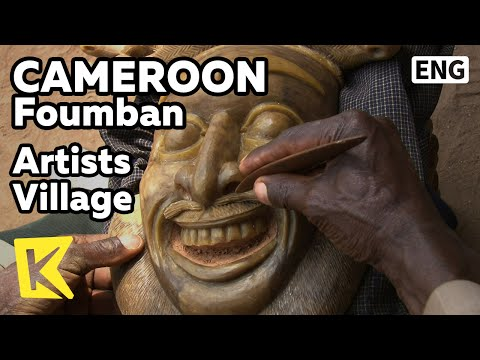 【K】Cameroon Travel-Foumban[카메룬 여행-품반]예술인 마을 가면/Artists Village/Mask/Artist/Bamoun/Human Statue/Craft
