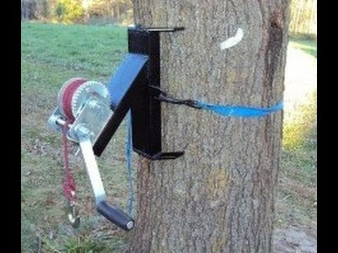 Homemade Tree Winch Welding Deer Winch Youtube