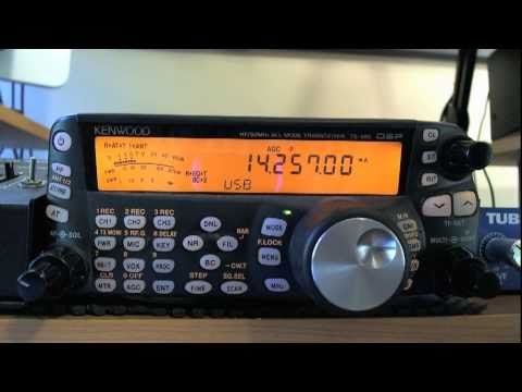 TS-480 receiving 6V7Z pileup on 20m