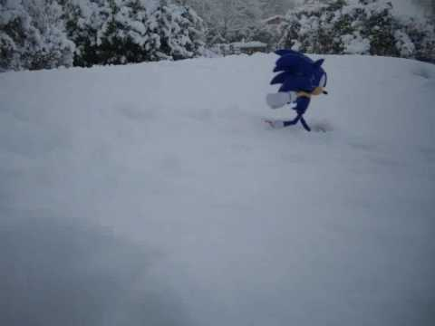 Sonic Snow Stop Motion 3 Video