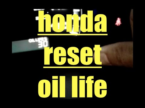 How to reset engine oil life 100% 2010 Honda Accord