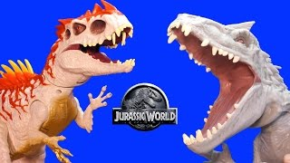 Jurassic World INDOMINUS REX Toy Dinosaurs Hybrid Rampage & Armor I-REX Dinosaur Toys Review