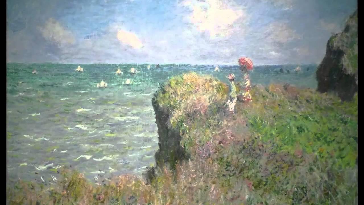 claude monet  cliff walk at pourville  1882