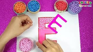 How To Draw E & e For Anphabet    English Color Kids