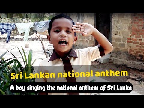 Sri Lankan National Anthem By Cute Boy Anu video