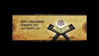 Şeyh Abdulkerim Norşini (ks) safvetü't tefasir dersleri Ali imran 118