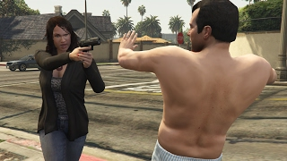 GTA V Amanda kills Michael for cheating on her
