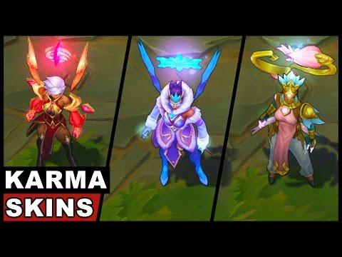 All Karma Skins Spotlight (League of Legends)
