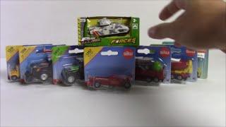 Mô hình xe đồ chơi xe tăng, xe công thức 1.. Unbox siku diecast tank, F1 racing car and more..