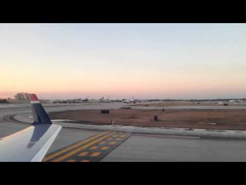 CLT Takeoff Usairways Express Flight 2802 CRJ-200 Runway 36R