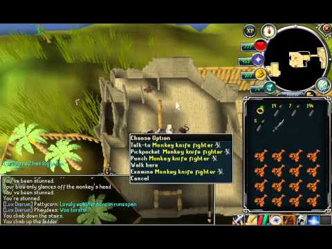Runescape ~ Monkey Knife Fighters Thieving Guide [Ape Atoll] Best
