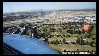 Car and plane flying cockpit and driver view!